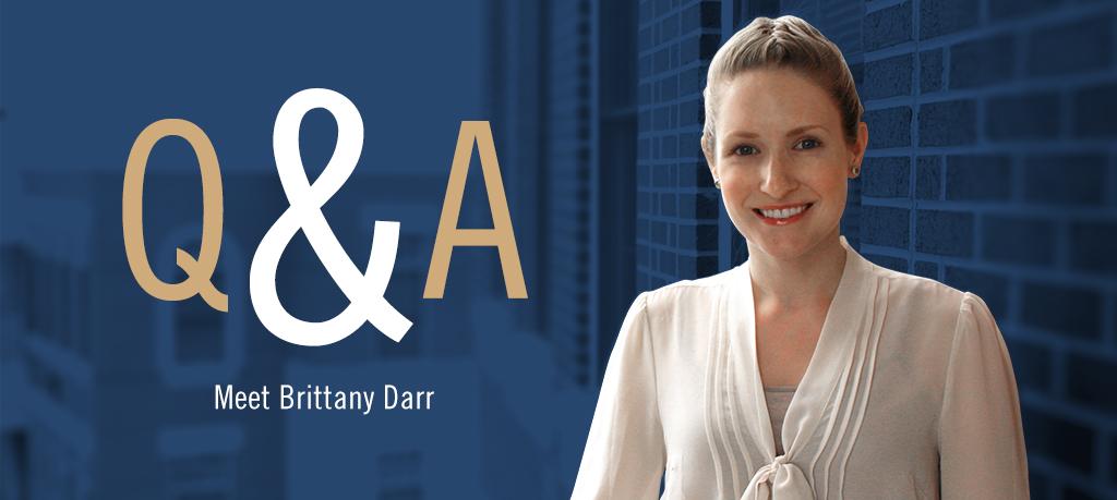 Q&A Meet Brittany Darr